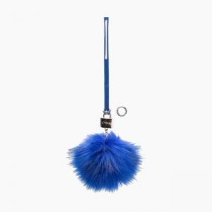 Декоративна підвіска пом-пон Синій