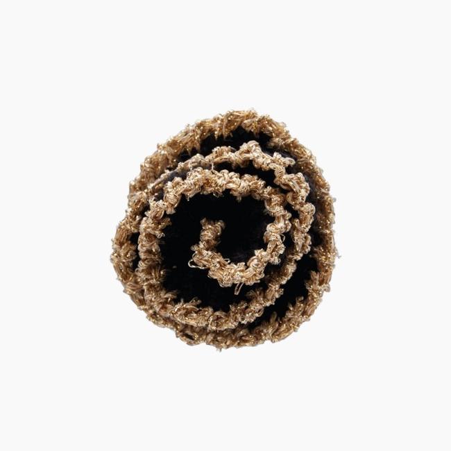 Декоративна брошка квітка вовна Чорний