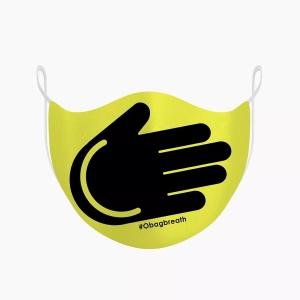 "Комплект захисних масок для обличчя O breath ""Smile hand"" Жовтий (2 шт)"