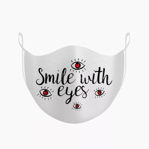 """Комплект захисних масок для обличчя O breath """"Smile eyes"""" Білий (2 шт)"""