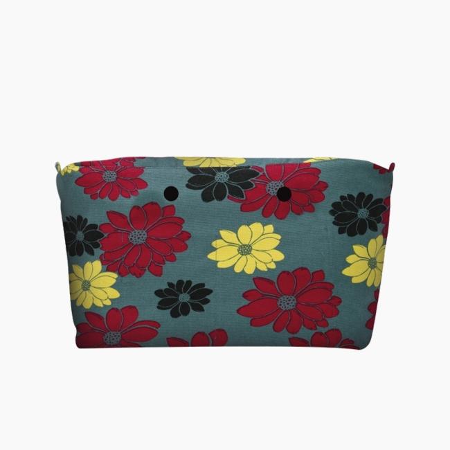 """Підкладка O bag beach micro з візерунком """"квіти Манільська затока"""" Атлантик"""