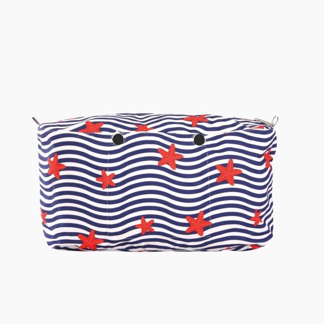 """Підкладка O bag beach micro з візерунком """"хвилі океана"""" Темно-синій"""