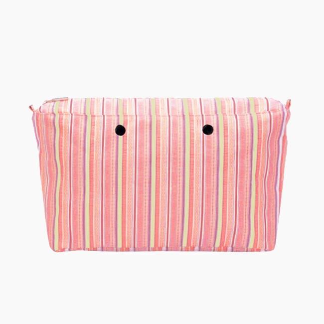 """Підкладка O bag beach mini на блискавці з візерунком """"лінії Гаїті"""" Абрикос"""