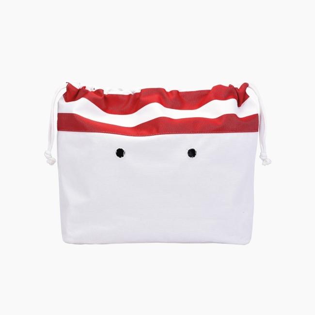 """Підкладка O bag beach mini з орнаментом """"двоколірні смужки New York"""" Червоний"""