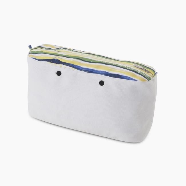 """Підкладка O bag beach mini з орнаментом """"акварель"""" Кобальт"""