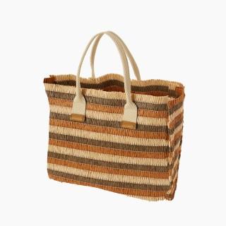 Жіноча сумка O bag cabas mini рафія Бісквіт