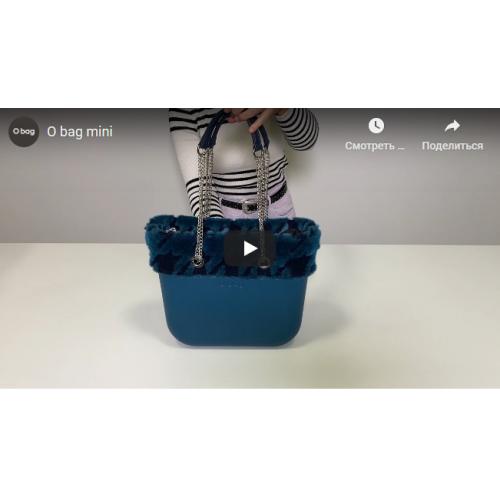 """Корпус O bag mini текстура """"ромби"""" з кристалами Swarovski Чорний"""