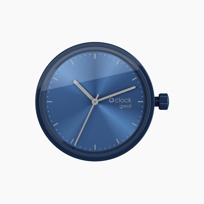 Циферблат O clock great Soleil синій, Срібло