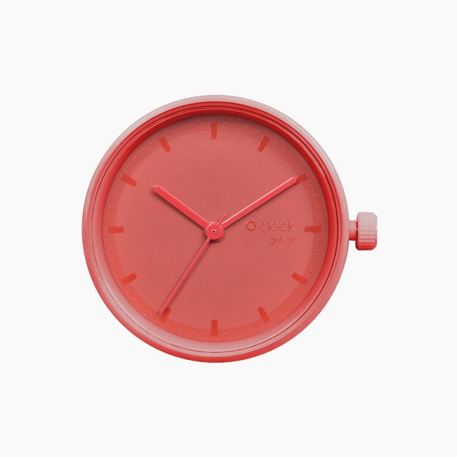 Циферблат O clock great Tone on Tone Smalto червоний