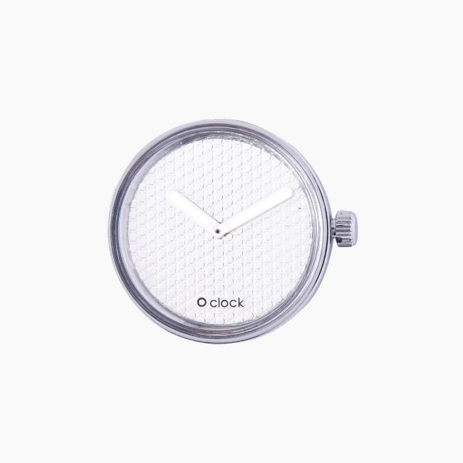 Циферблат O clock Pave срібло