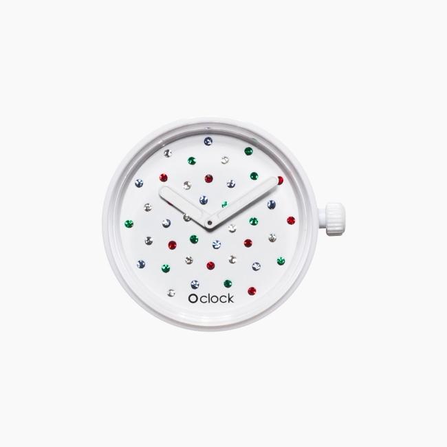 Циферблат O clock Crystal білий