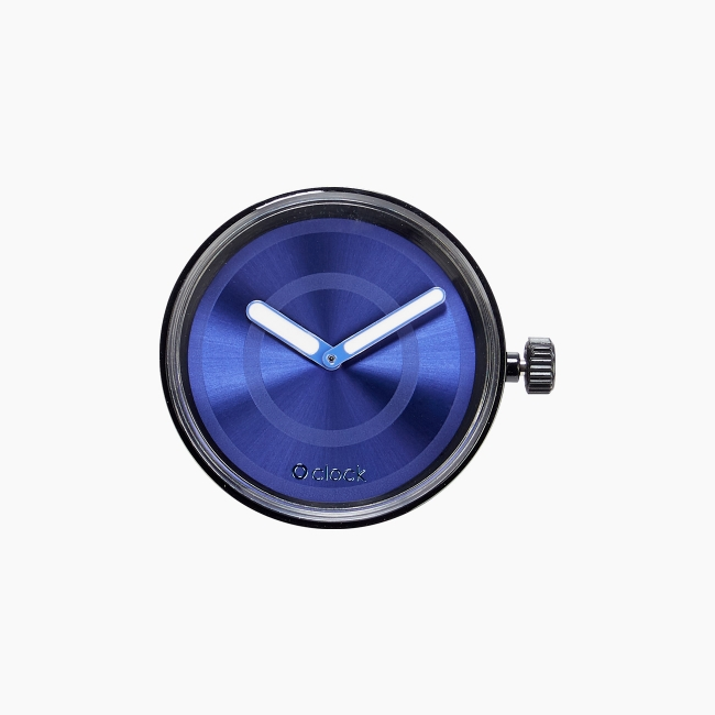 Циферблат O clock Circle Soleil синій