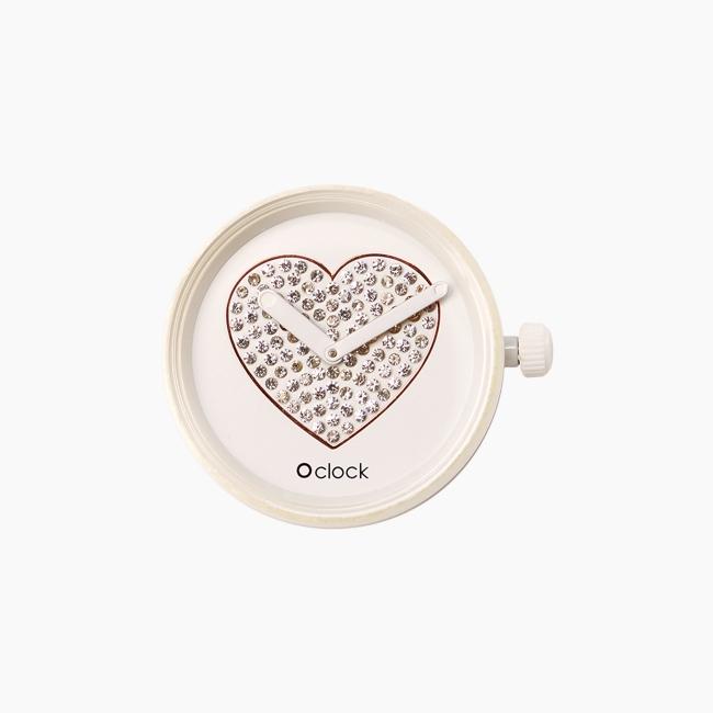 Циферблат O clock Sparkling Heart білий