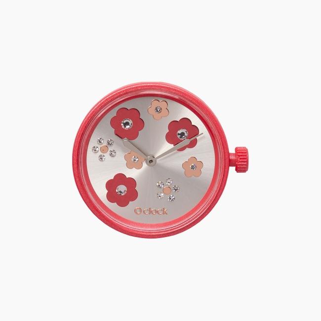 Циферблат O clock Flower Mix Crystal червоний