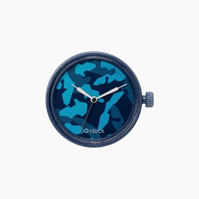 Циферблат O clock Metal Camouflage Темно-синій