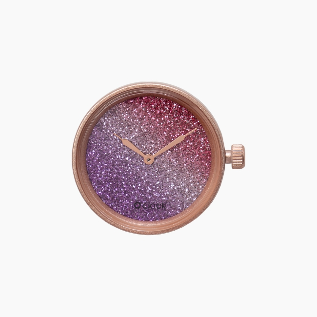 Циферблат O clock Glitter Bicolor Смородина / Амарант