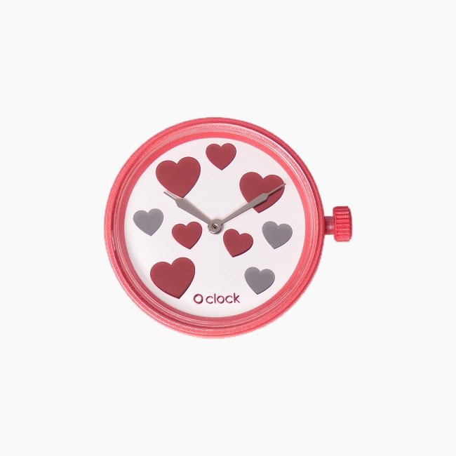 Циферблат O clock Nine Hearts червоний