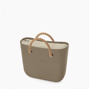 Жіноча сумка O bag classic | корпус рок, підкладка текстиль, короткі ручки-канати