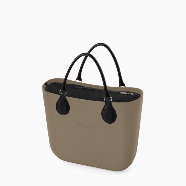 Жіноча сумка O bag classic   корпус рок, підкладка текстиль, короткі ручки tubular