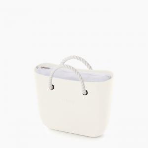 Жіноча сумка O bag classic | корпус лате, підкладка текстиль , короткі ручки-канати