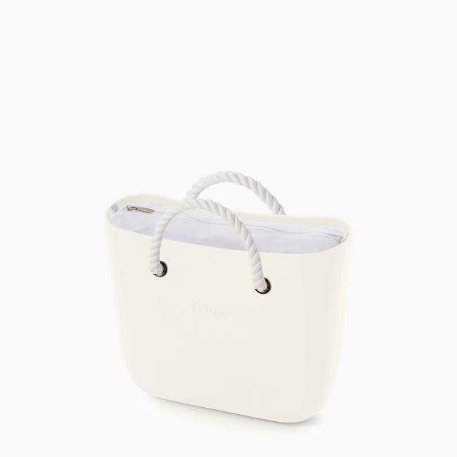 Жіноча сумка O bag classic | корпус лате, підкладка текстиль , короткі ручки-канати OBAGB001EVS00371-OBAGS001TES01008-HLESGC00ROS00008