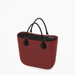 Жіноча сумка O bag classic   корпус рубі ред, підкладка текстиль, короткі ручки tubular