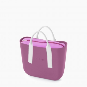 Жіноча сумка O bag classic | корпус валеріана, підкладка лайкра, короткі ручки tubular плоскі наппа