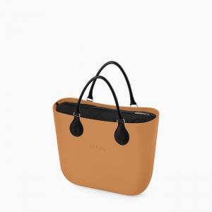 Жіноча сумка O bag mini   корпус бісквіт, підкладка текстиль, короткі ручки tubular