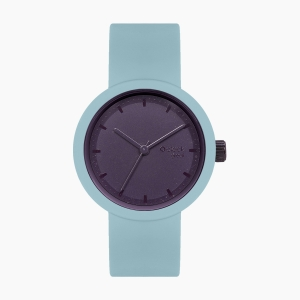 O clock great | ремінець блакитний дим, циферблат Tone on Tone Smalto баклажан