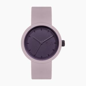 O clock great | ремінець рожевий дим, циферблат Tone on Tone Smalto баклажан