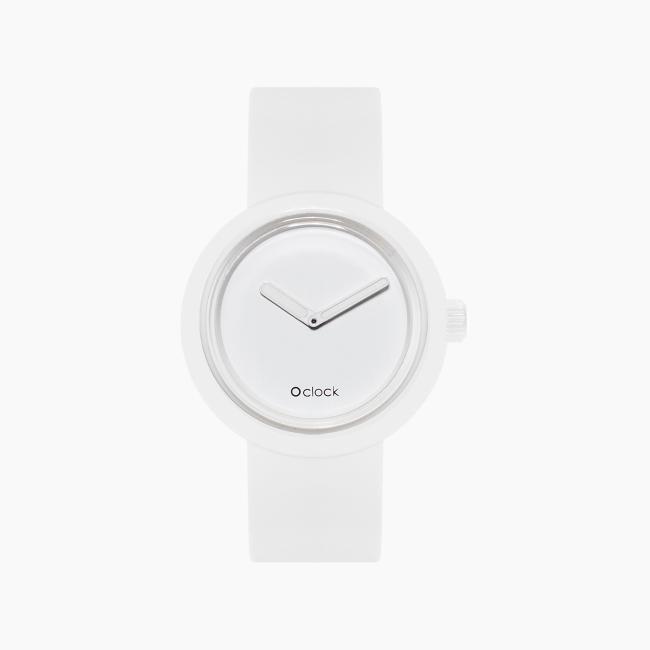 O clock   ремінець білий, циферблат Tone on Tone білий OCLKD001MES06008-OCLKS007SIS01008