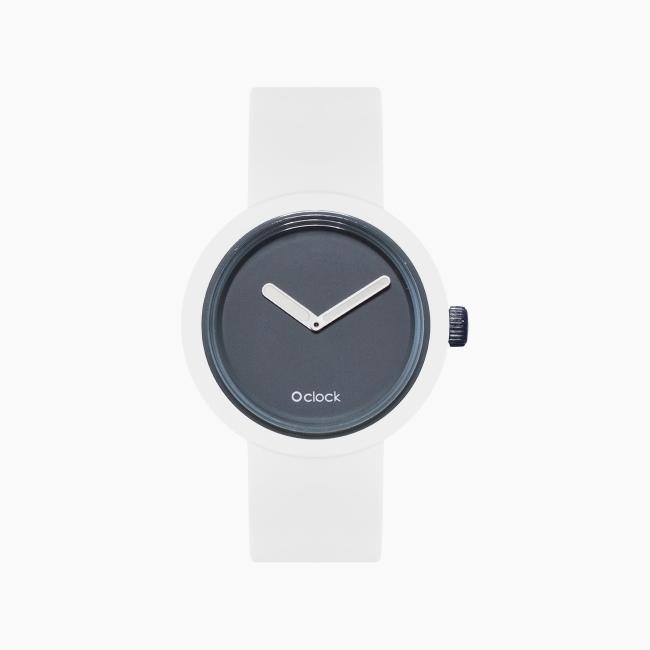 O clock | ремінець білий, циферблат Tone on Tone Графіт OCLKD001MES06041-OCLKS007SIS01008