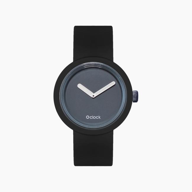 O clock | ремінець чорний, циферблат Tone on Tone графіт OCLKD001MES06041-OCLKS007SIS01055
