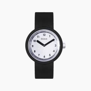 O clock | ремінець чорний, циферблат Numbers дзеркальний