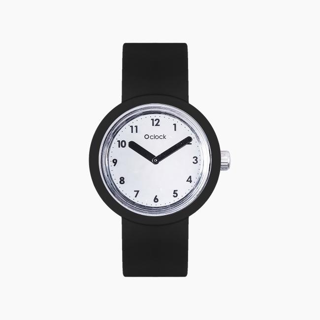 O clock | ремінець чорний, циферблат Numbers дзеркальний OCLKD001MES07004-OCLKS007SIS01055