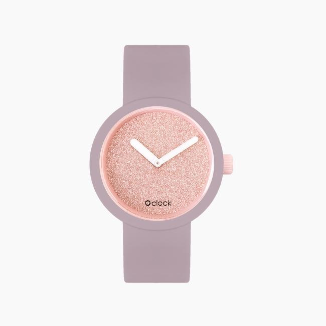 O clock   ремінець рожевий дим, циферблат Glimmer рожевий крем