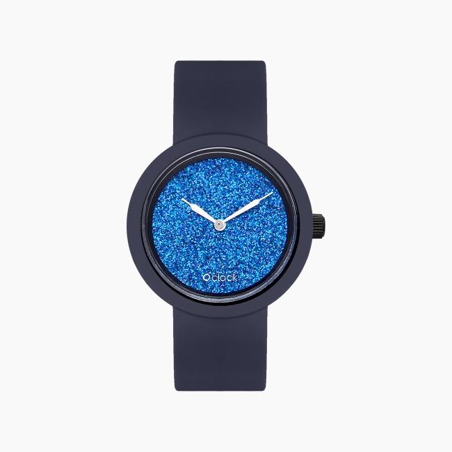 O clock | ремешок океан, циферблат Crystal Full Sky темно-синий