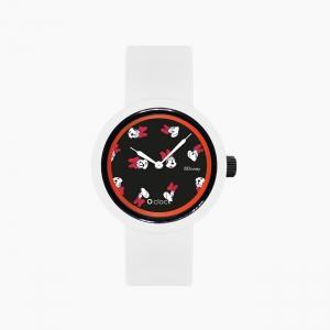 O clock | ремінець білий, циферблат All over Disney чорний