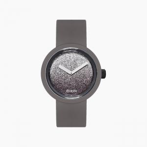 O clock | ремешок графит, циферблат Gold and Silver Glitter серебро