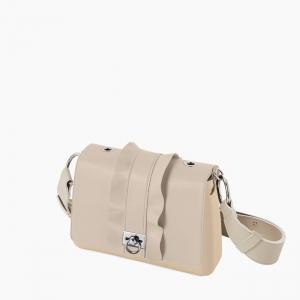 Жіноча сумка O bag glam | корпус пісок, фліп наппа, ремінець