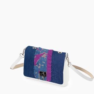 Жіноча сумка O bag glam | корпус лате, фліп рюш, ремінець