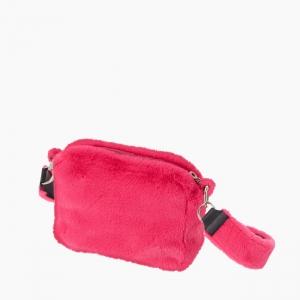 Жіноча сумка O bag glam fur fun екохутро Фуксія флуо
