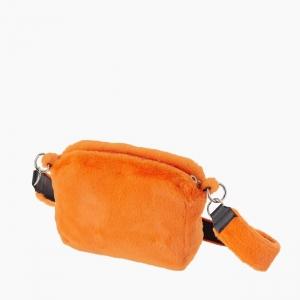 Жіноча сумка O bag glam fur fun екохутро Помаранчевий флуо