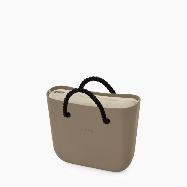 Жіноча сумка O bag mini   корпус рок, підкладка текстиль, короткі ручки-канати OBAGB002EVS00071-OBAGS002TES01054-HLESGC00ROS00055