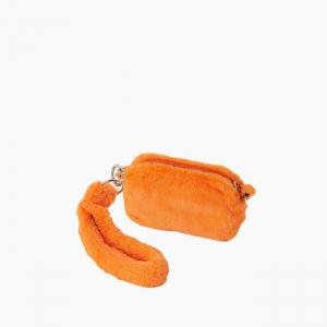 Жіноча сумка O pocket fur fun екохутро Помаранчевий флуо