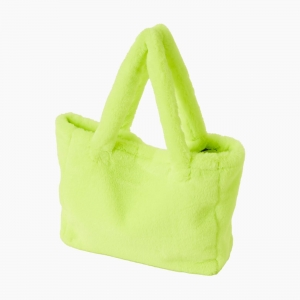 Жіноча сумка O bag Sac екохутро Лайм флуо