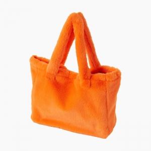 Жіноча сумка O bag Sac екохутро Помаранчевий флуо