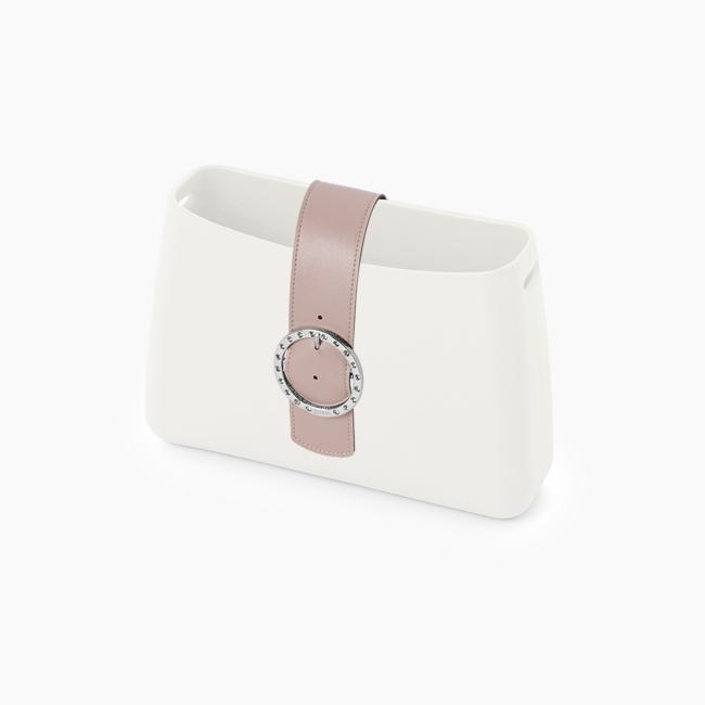 Стрічка O bag glam з кристалами Рожевий дим