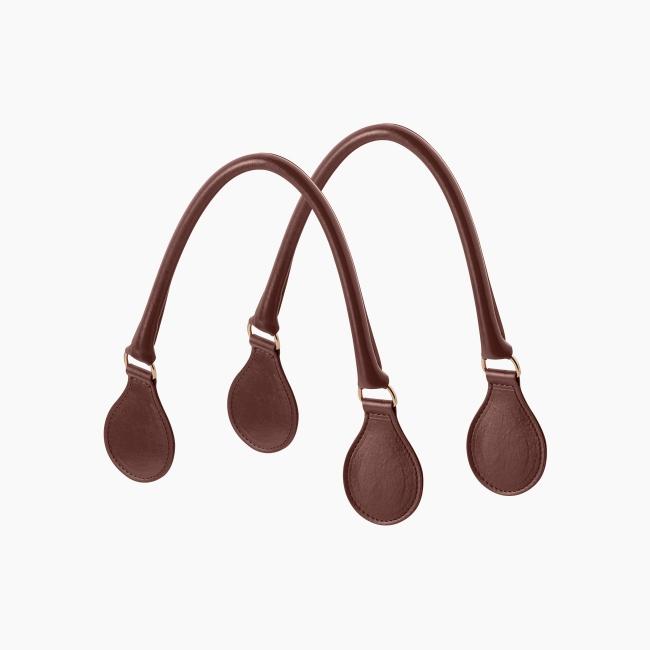 Короткі ручки класичні tubular Коньяк