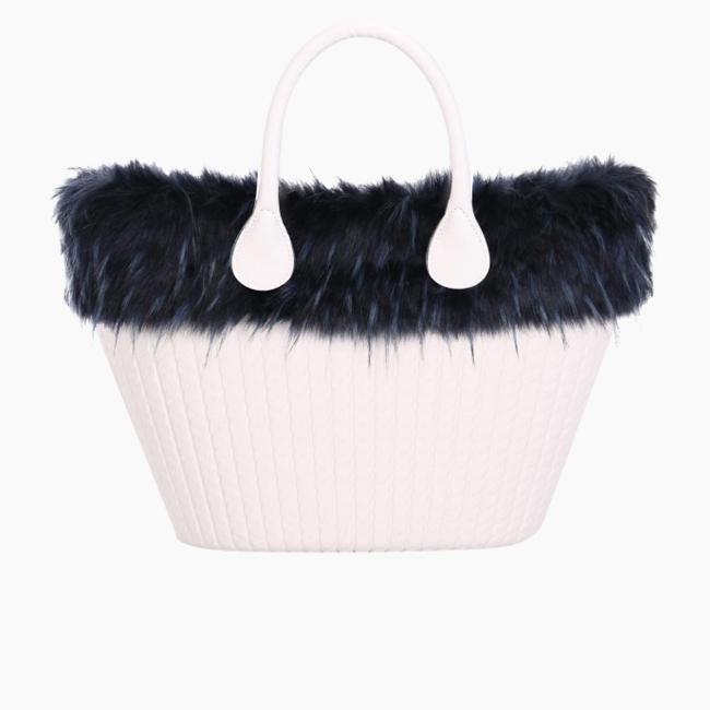 Манжет O bag knit mini єнот Синій